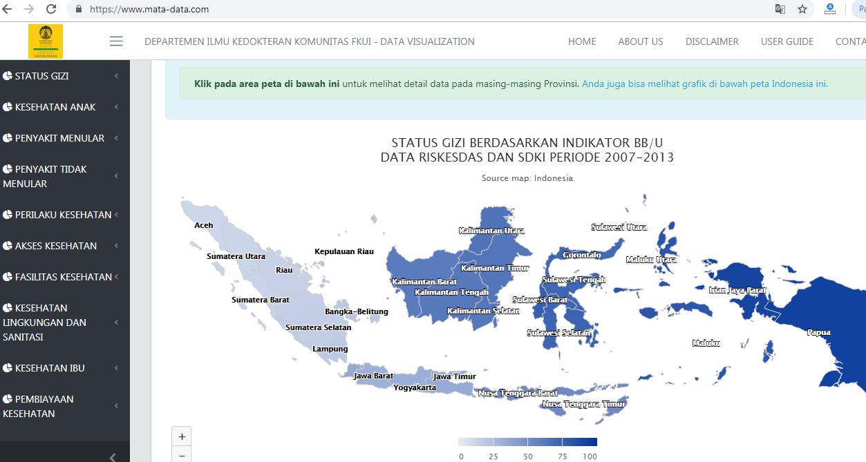 Komunitas Dokter UI Luncurkan Situs Data Kesehatan di Indonesia