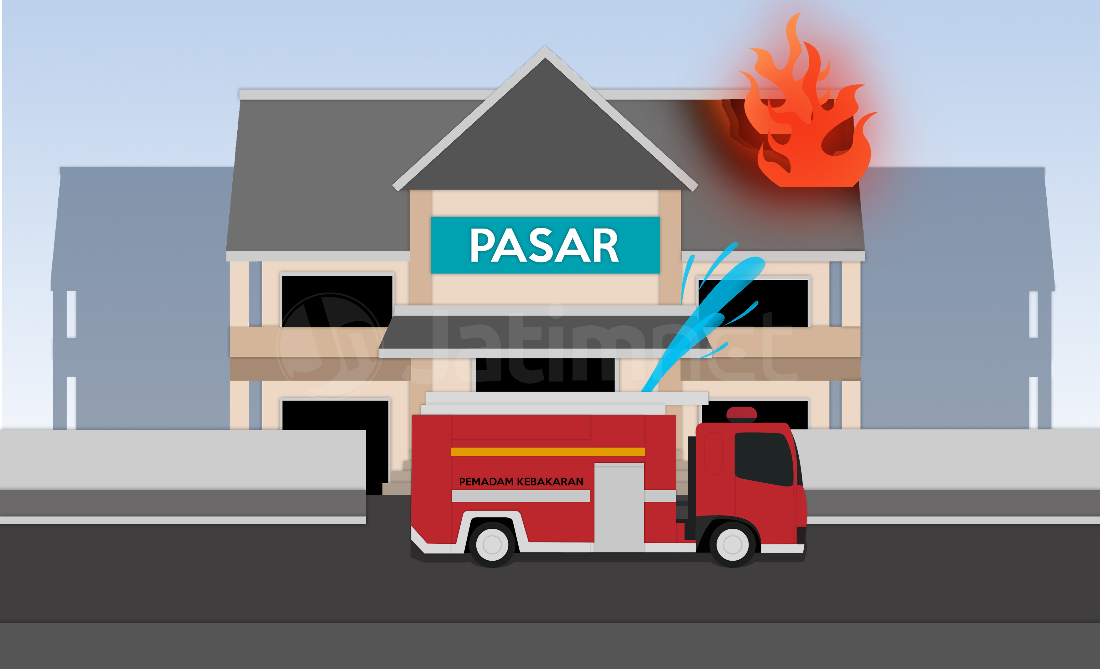 Kerugian Kebakaran Pasar Lawang Ditaksir Rp 9 Miliar
