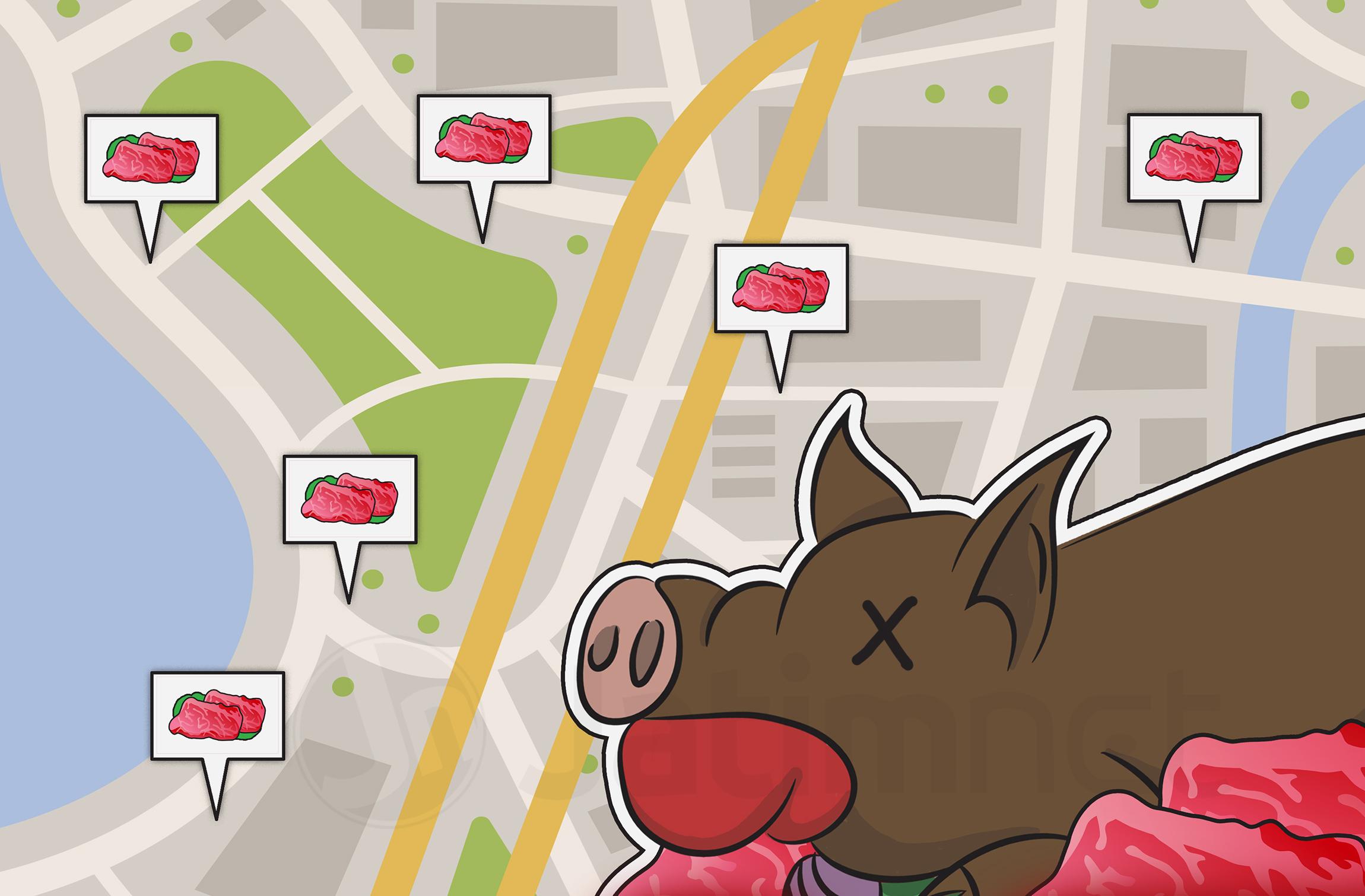 Pengawasan Distribusi Daging Celeng Pakai GPS