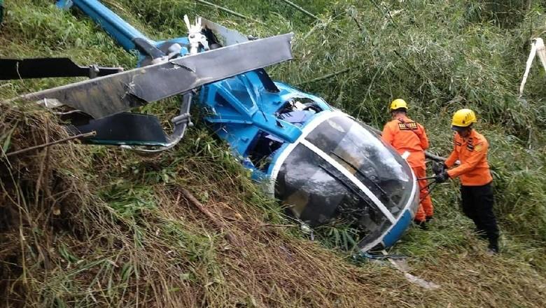 Helikopter Jatuh di Tasikmalaya, 4 Penumpang Selamat