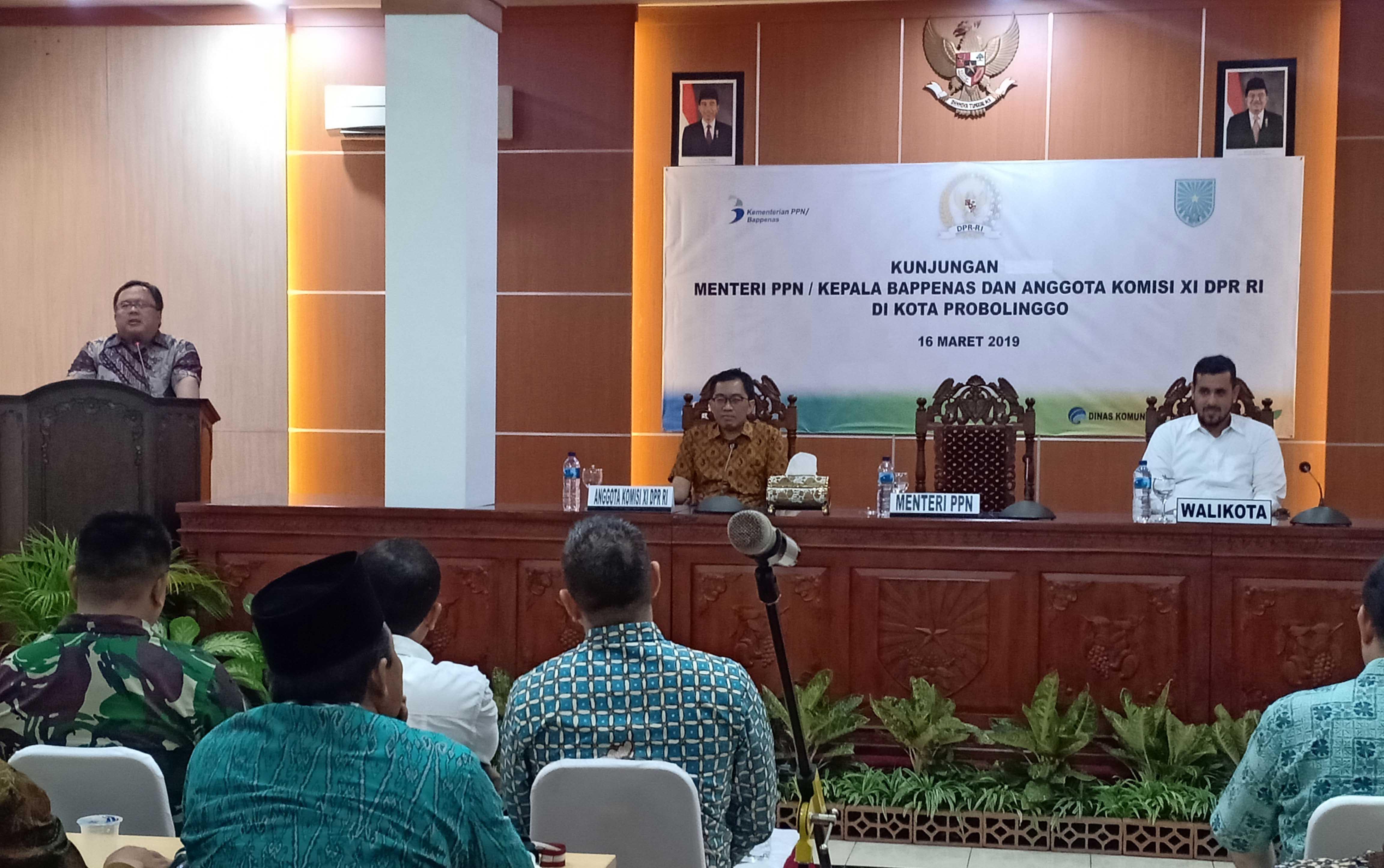 """Menteri PPN Dorong Kota Probolinggo Jadi """"Kota Jasa Regional"""""""