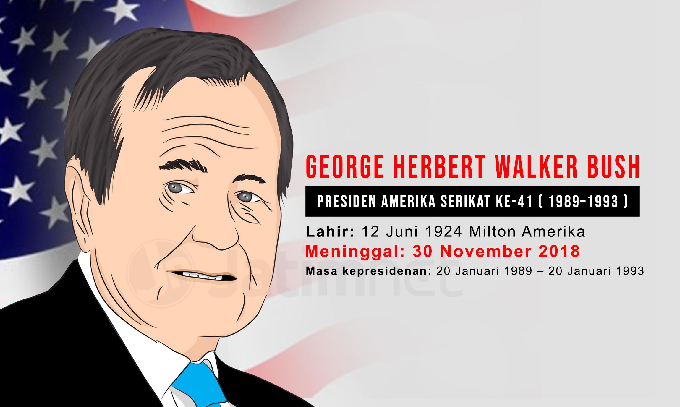 Mantan Presiden AS George Herbert Walker Bush Tutup Usia
