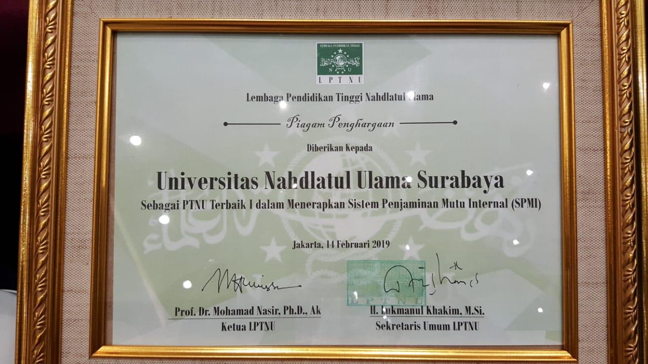 Mutu Kampus UNUSA Terbaik Di Antara PTNU Se Indonesia