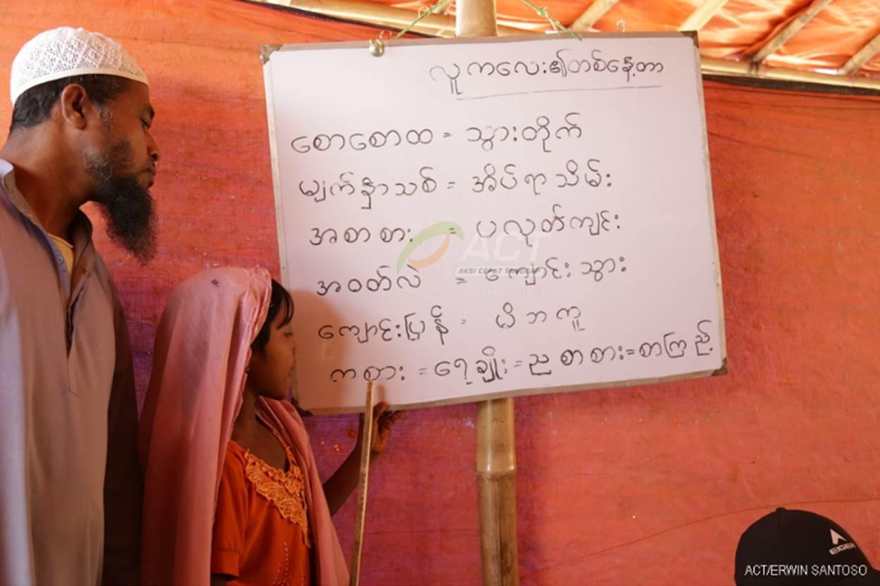 ACT Berikan Bantuan Pendidikan TerhadapRohingya