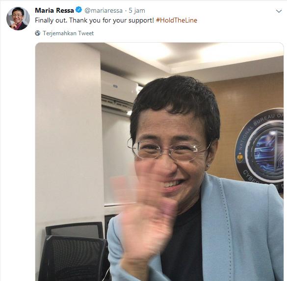Jurnalis Filipina Dibebaskan, Penangkapannya Tuai Kecaman
