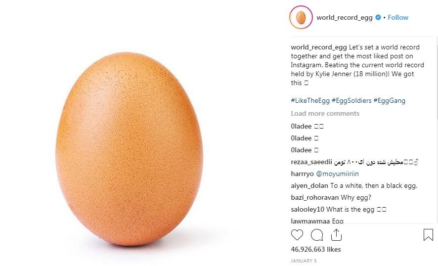 Postingan Telur ini Raup 46,9 Juta <em>Likes</em> di Instagram