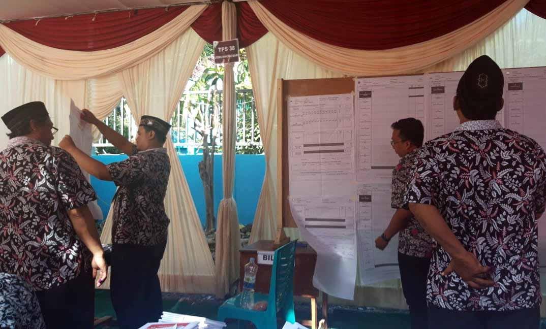 Joko Widodo Menang di TPS Tempat Khofifah Mencoblos