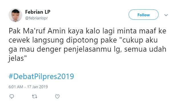 Jawaban 'Cukup' Ma'ruf Amin Jadi Sorotandi Twitter