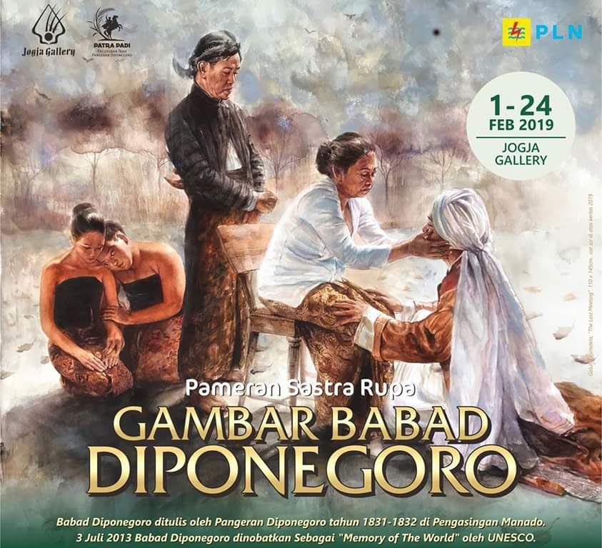 Lukisan tentang Babad Diponegoro Dipamerkan di Yogyakarta