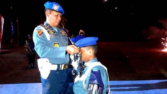 Napak Tilas Pasukan Makardi dan Pembaretan 112 Siswa Pusdikpom TNI AL