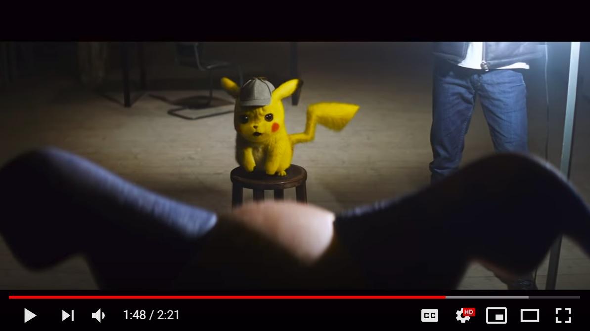 5 Hari Diunggah ke Youtube, Triler Pokemon Detective Pikachu Ditonton 39 Juta Kali