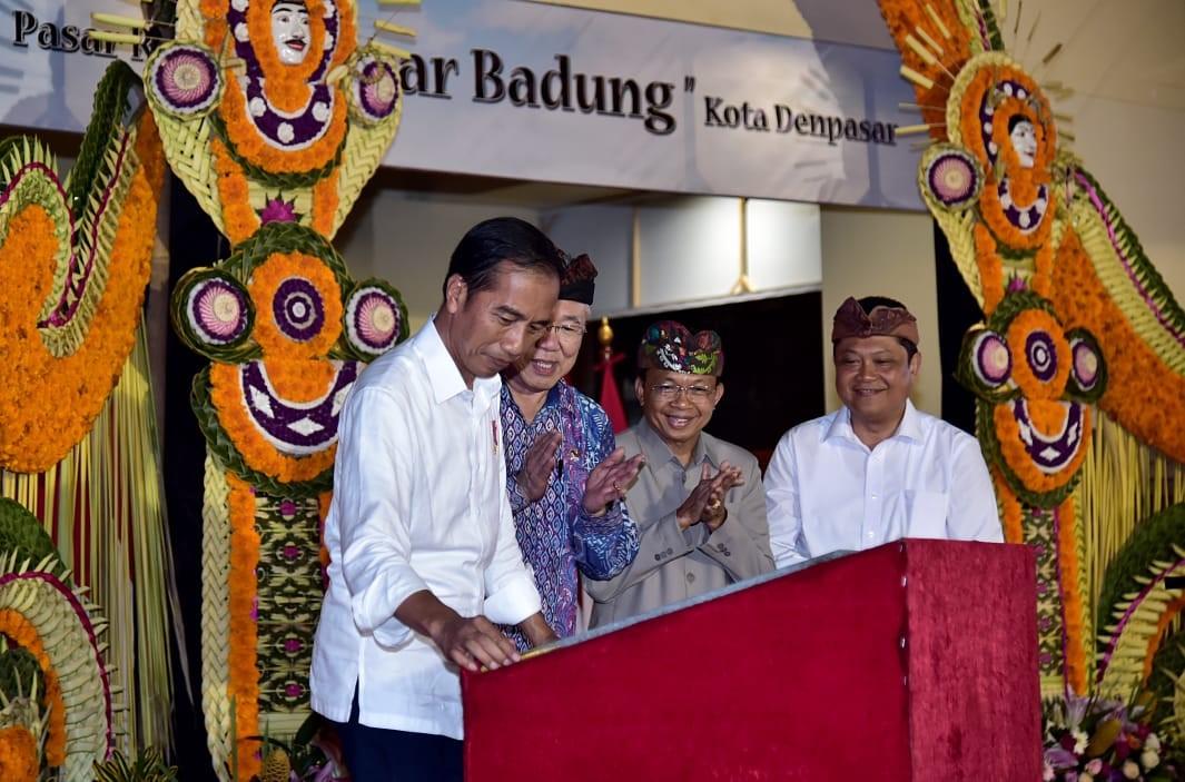 Jokowi Kagumi Keindahan Arsitektur Pasar Badung