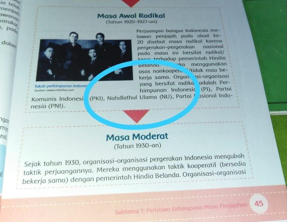 PC NU Jombang Minta Kemendikbud Tarik Buku Tema 7
