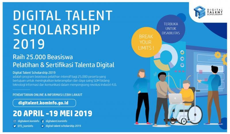 Kemenkominfo Buka Pendaftaran 25.000 Beasiswa Digital Talent Scholarship 2019