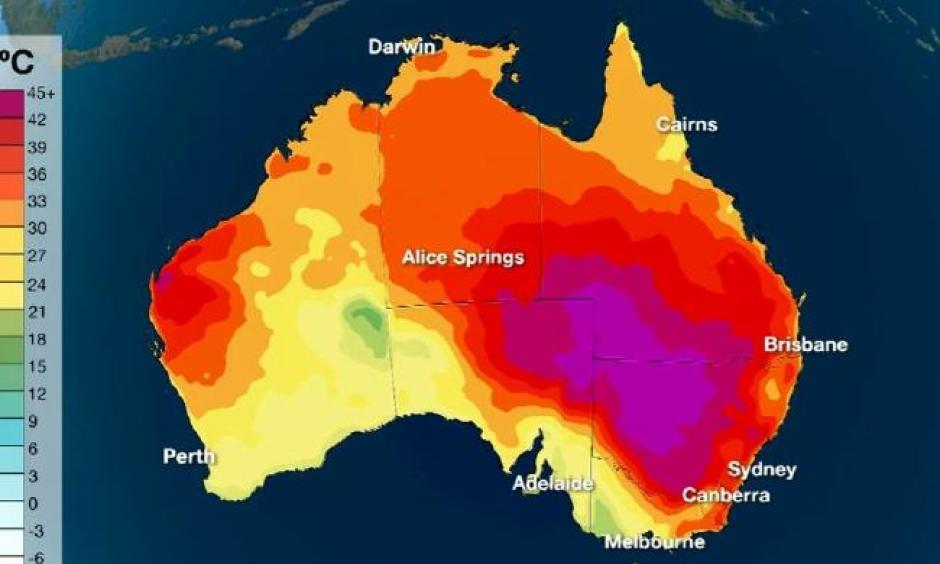 Benua Australia Dilanda Suhu Panas