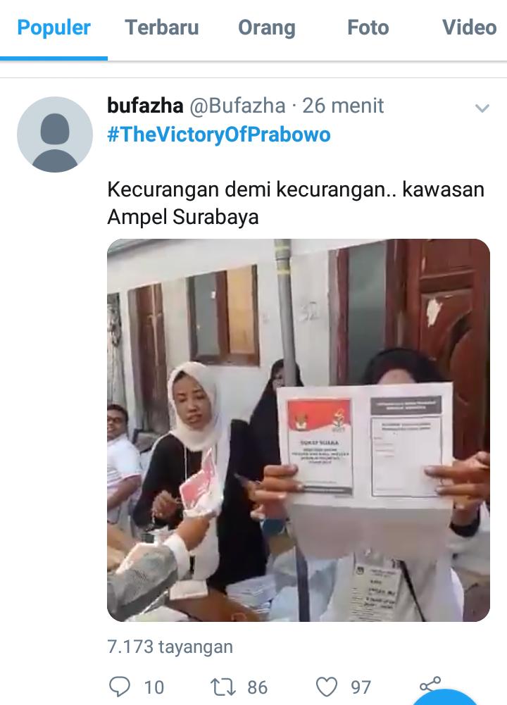 Bawaslu Surabaya Tegaskan Tidak Ada Kecurangan Surat Suara Tercoblos